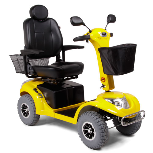 Yellow Heavy Terrain Mobility Scooter - Model Haxi HT