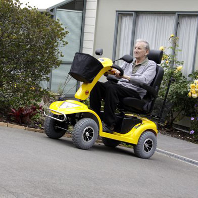 Maurice - Maxi Heavy Terrain Scooter in Yellow