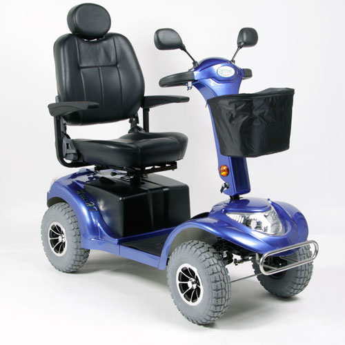 Blue Heavy Terrain Mobility Scooter - Model Haxi HT